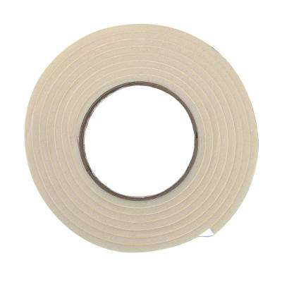 E/O 3/8 in. x 3/16 in. x 10 ft. White High-Density Rubber Foam Weatherstrip Tape