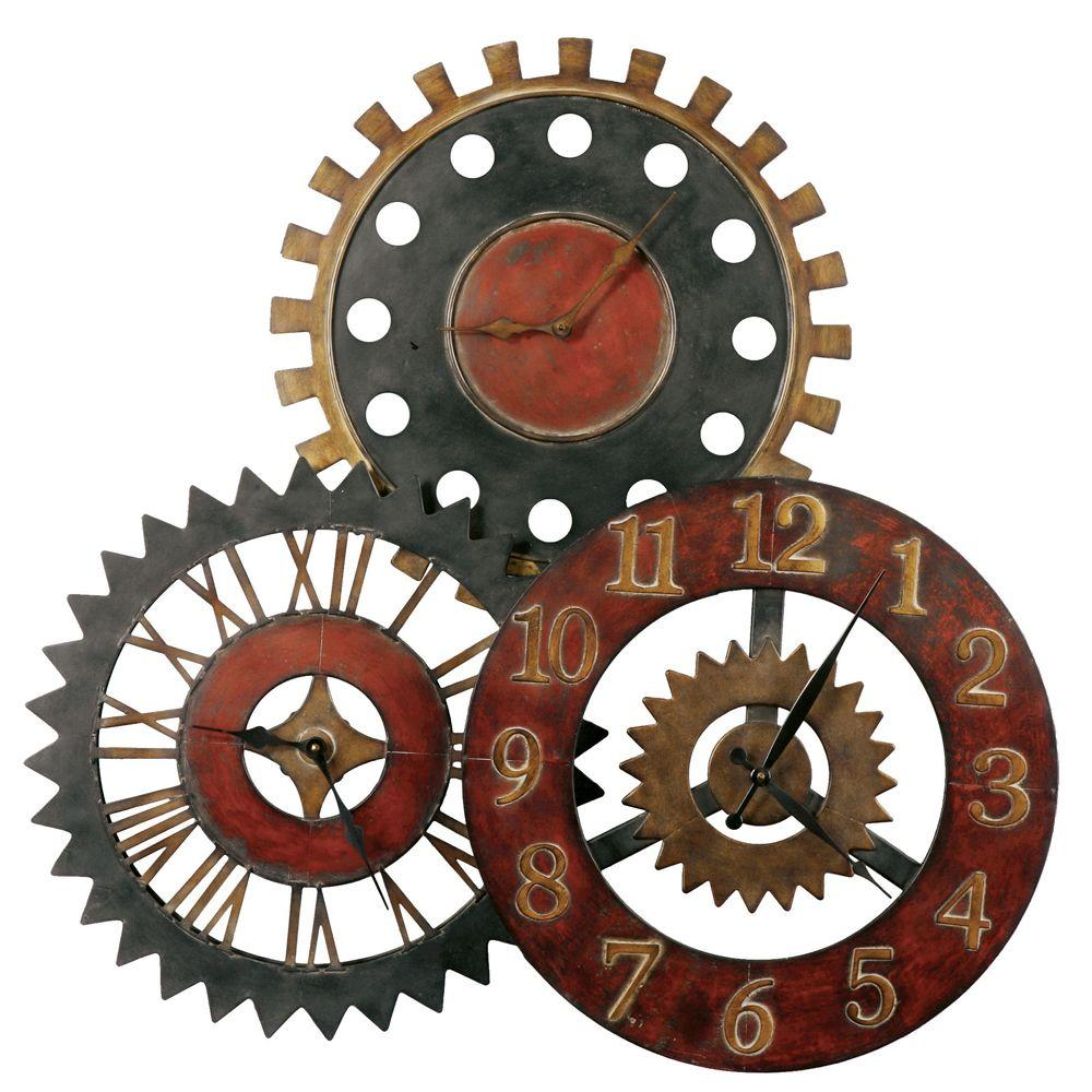 Global Direct 35-1/4 in. Gears Wall Clock-DISCONTINUED