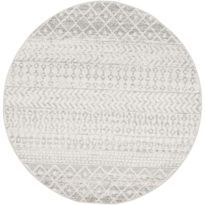 Laurine Gray 5 ft. 3 in. Round Area Rug