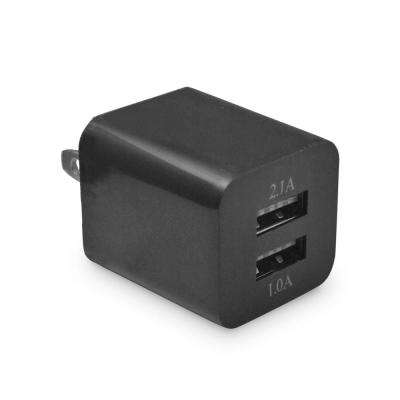 Dual USB Wall Charger, Black