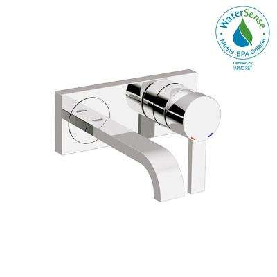 Allure Double Hole Single-Handle Wall Mount Vessel Bathroom Faucet in StarLight Chrome