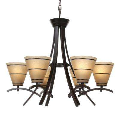 Wright 6-Light Oil Rubbed Bronze Chandelier