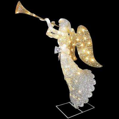 48 in. Angel Decoration with Clear Lights
