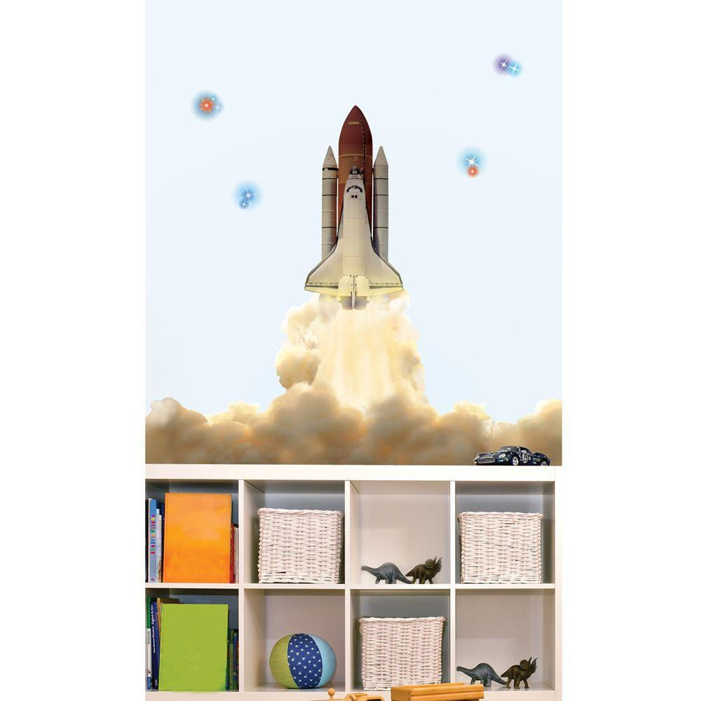 Sticky Pix Removable and Repositionable Ultimate Wall Sticker Mini Mural Appliques Space