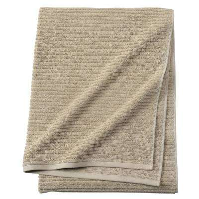 Monterey 1-Piece Ribbed Turkish Bath Towel in Latte