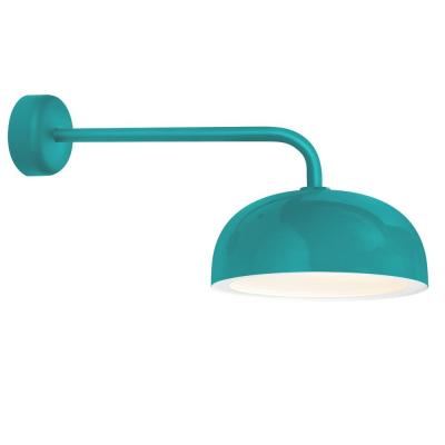 Dome 9.88 in. H 1-Light Tahitian Teal Outdoor Wall Mount Sconce