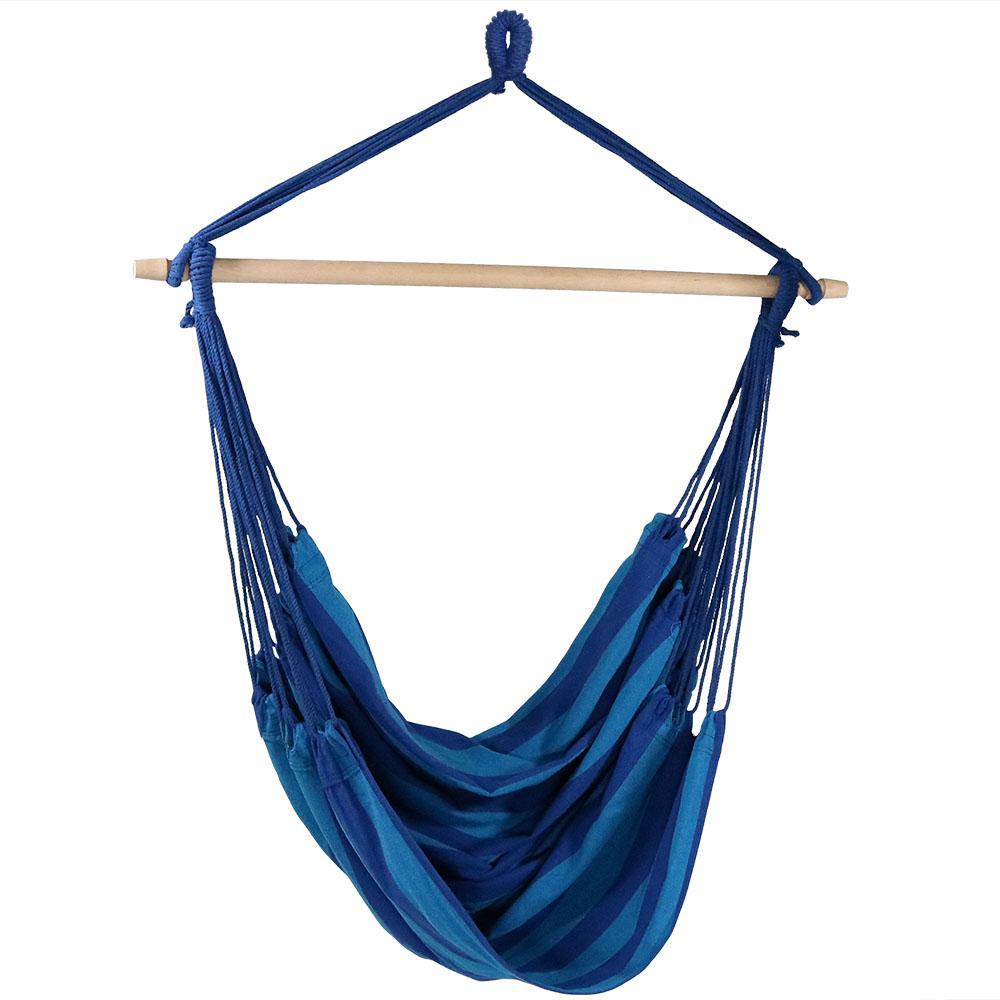 5 ft. Jumbo Hanging Hammock Swing Bed in Beach Oasis