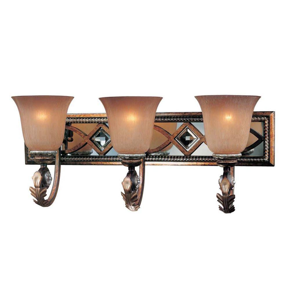 Aston Court 3-Light Bronze Bath Light