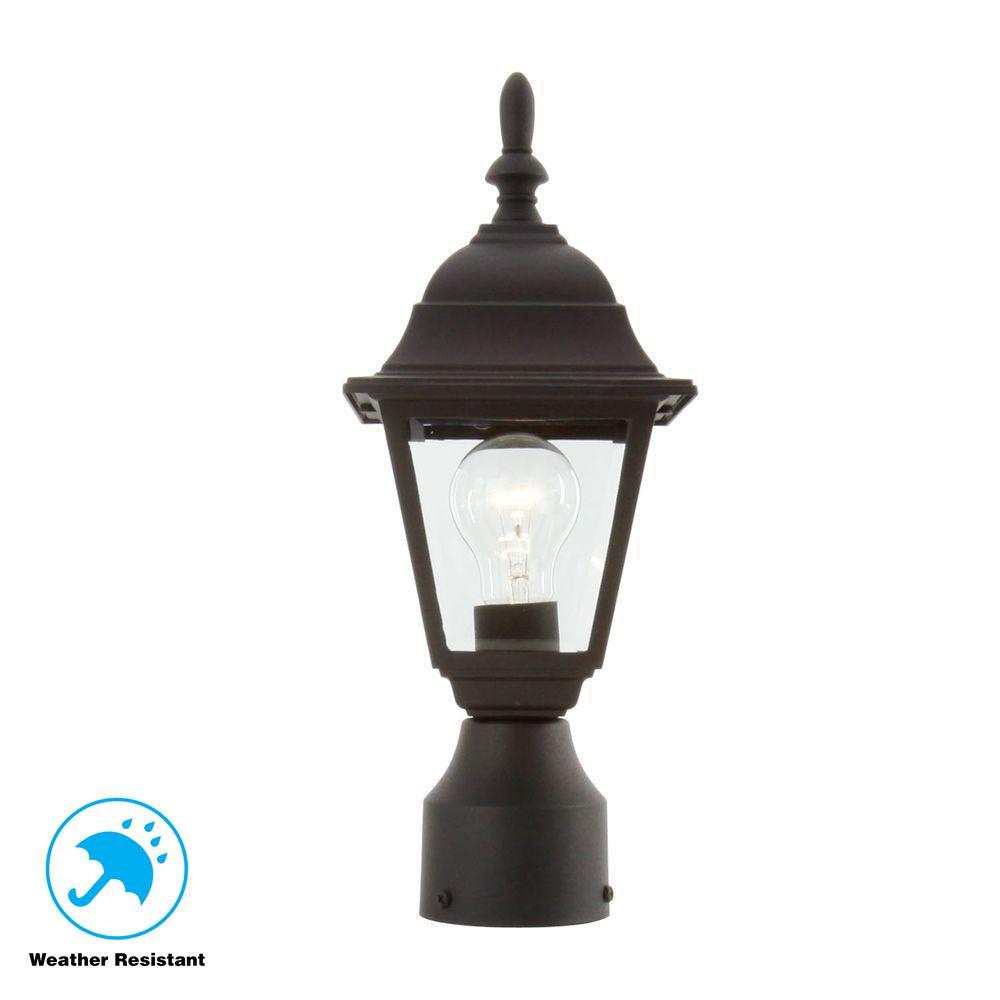 Hampton Bay 1 Light Black Outdoor Lamp