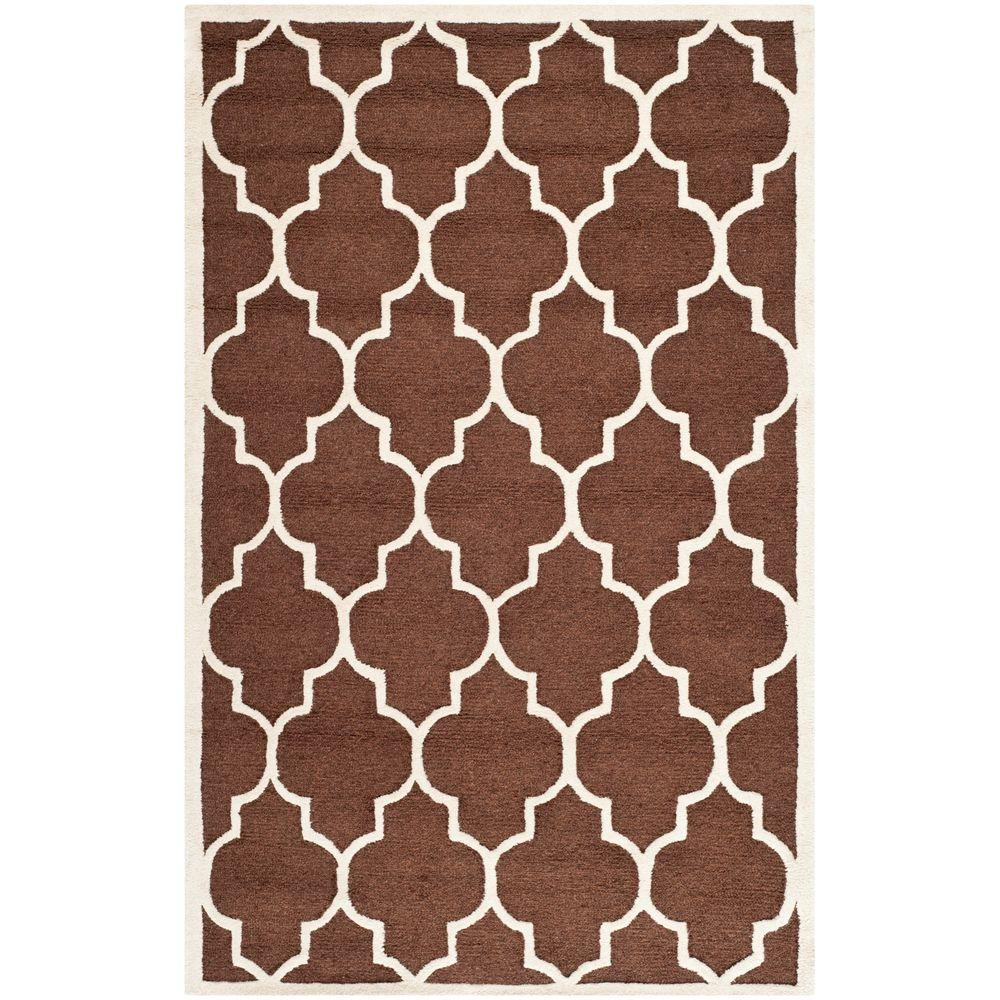 Safavieh Cambridge Dark Brown/Ivory 5 ft. x 8 ft. Area Rug
