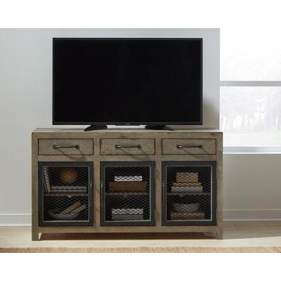 Scottsdale 60 in. Mushroom Wood TV Stand with 3 Drawer Fits TVs Up to 65 in. with Storage Doors