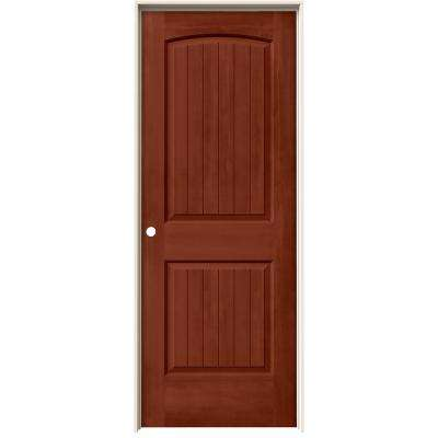 30 in. x 80 in. Santa Fe Amaretto Stain Right-Hand Molded Composite MDF Single Prehung Interior Door