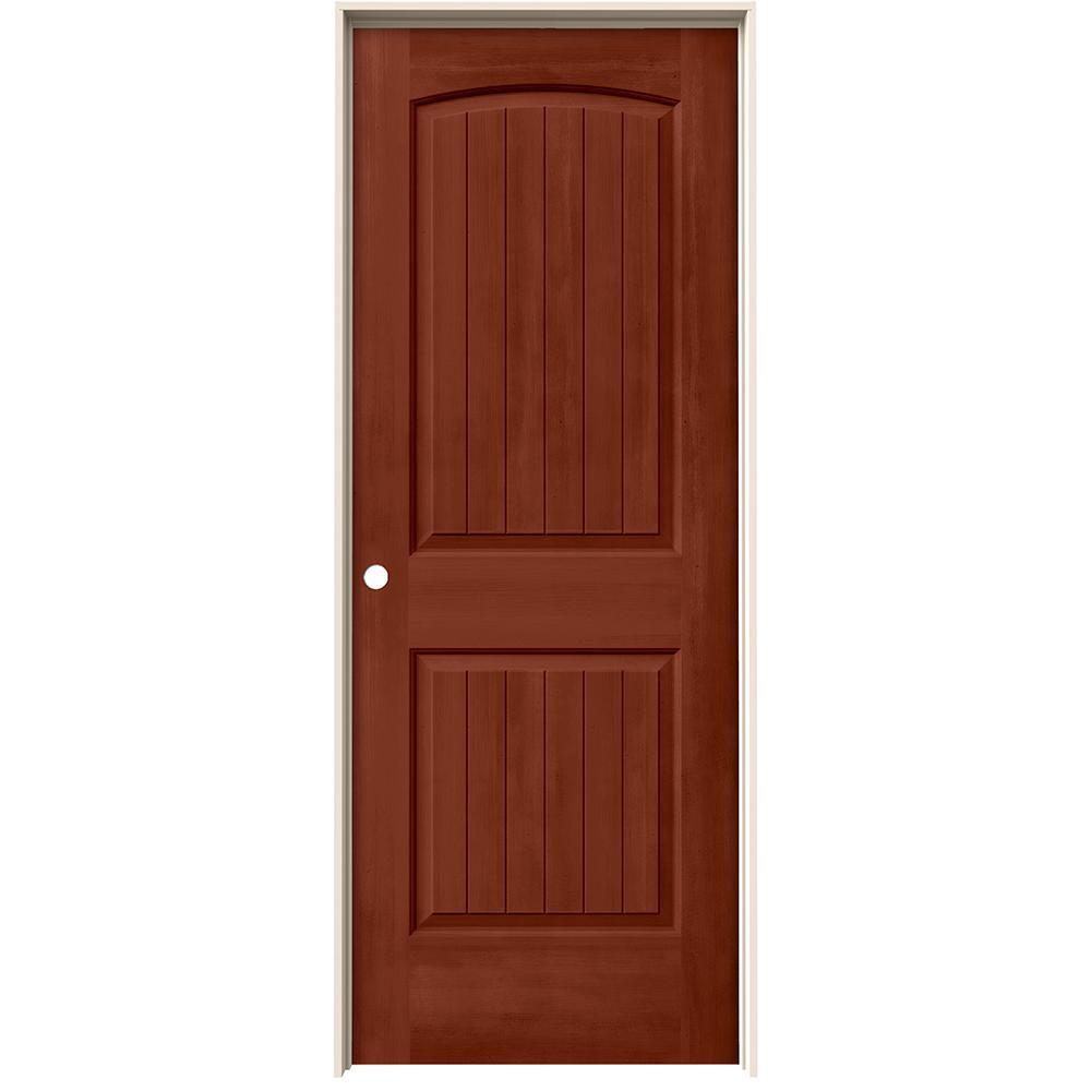 24 in. x 80 in. Santa Fe Amaretto Stain Right-Hand Solid Core Molded Composite MDF Single Prehung Interior Door