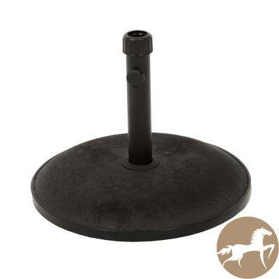 35 lbs. Harrison Concrete Patio Umbrella Base in Black