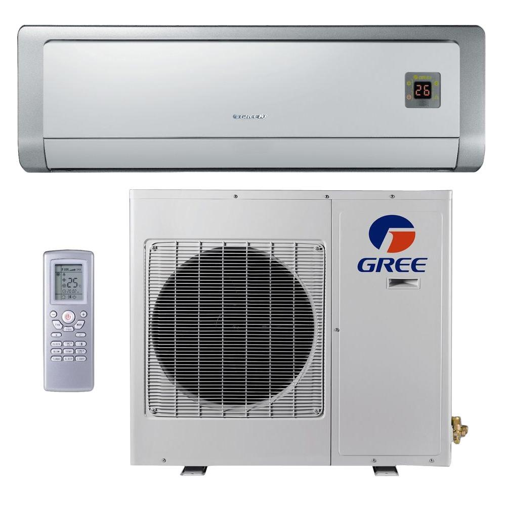 GREE Premium Efficiency 12,000 BTU Ductless Mini Split Air Conditioner with Heat - 208/230V/60Hz