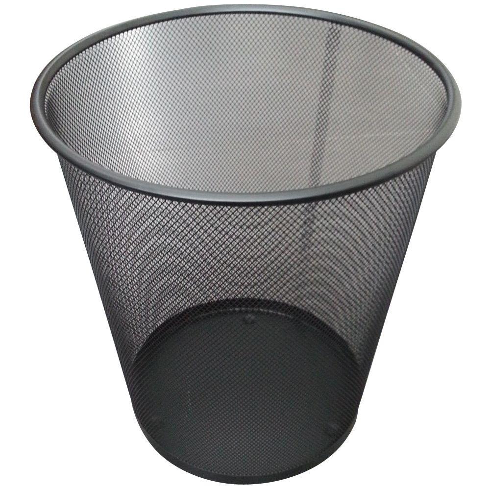 5 gal. Black Round Mesh Trash Can