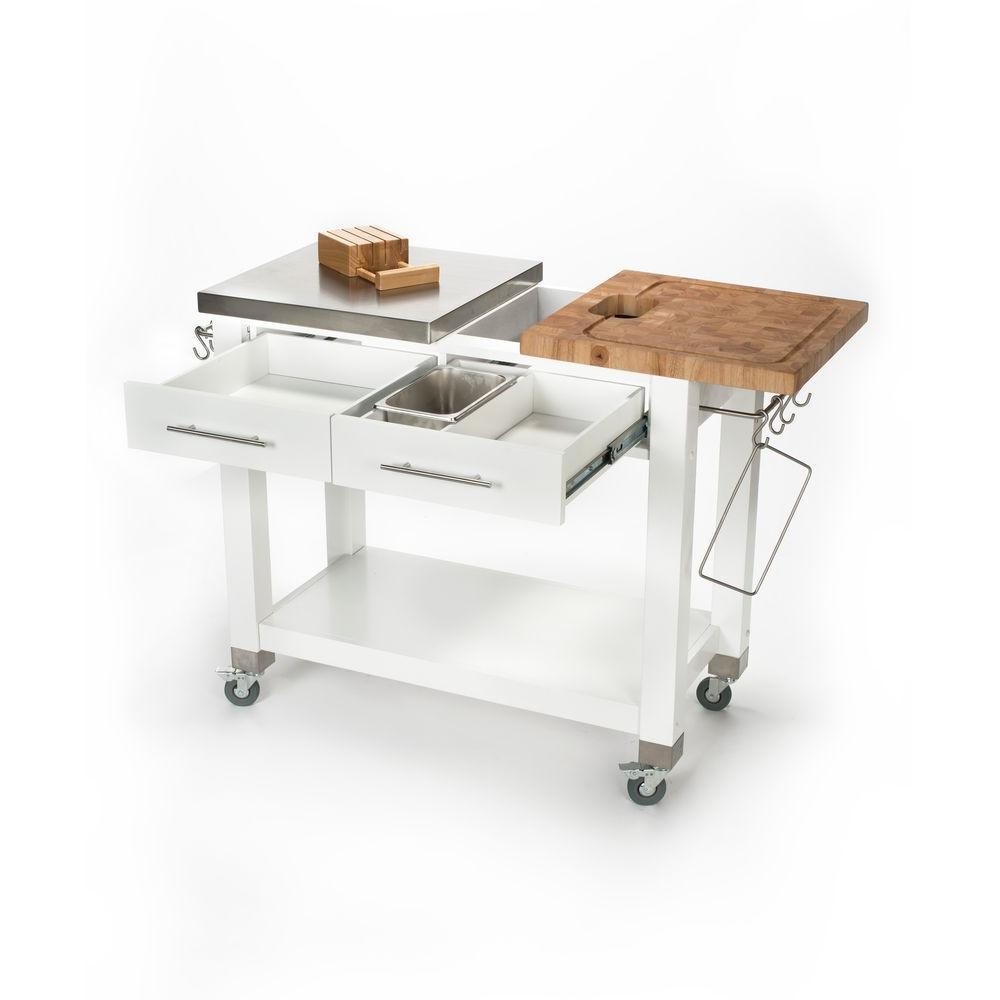 +2. Chris U0026 Chris Chef Stainless Steel Kitchen Cart ...