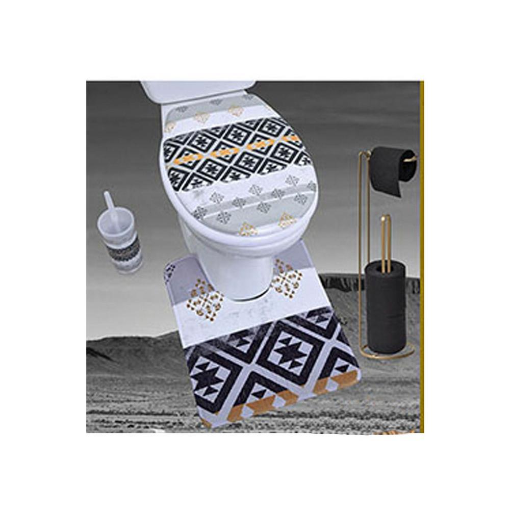 Kenya Pedestal Mat Microfiber Bath Toilet Contour Rug 17W X ...