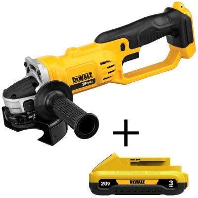 20-Volt MAX Lithium-Ion Cordless 4-1/2 in. Grinder with (1) 20-Volt Compact 3.0Ah Battery