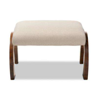 Sandrine Light Beige Foot Rest