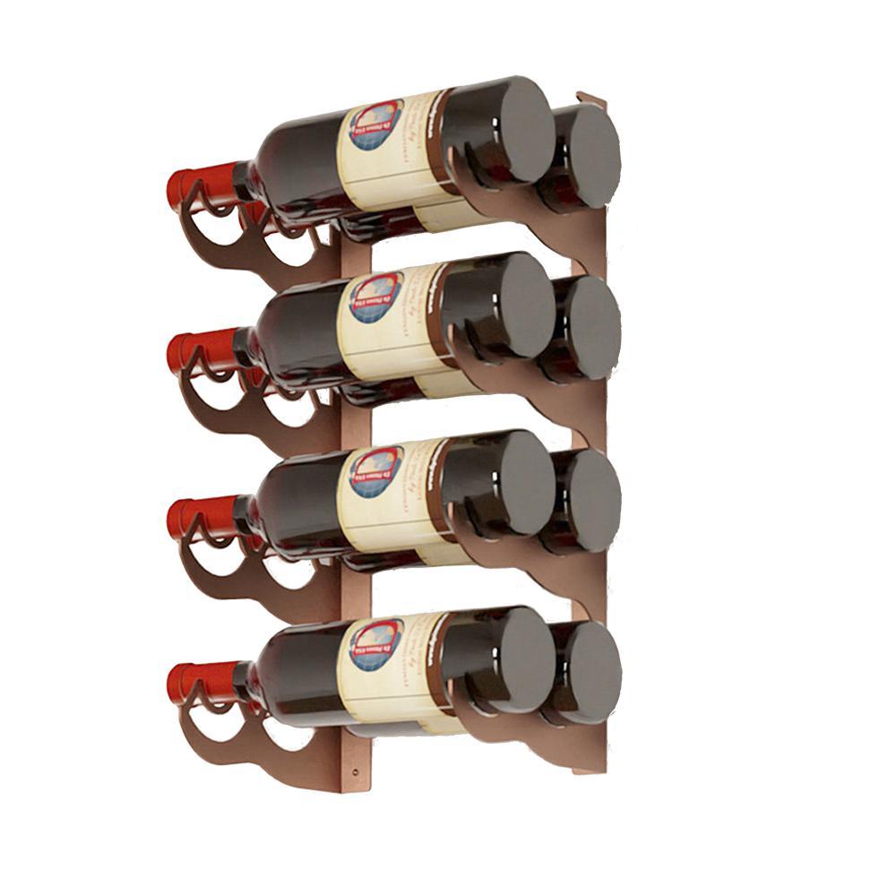 Eagle Edition 8-Bottle Wall Mounted Double Row Wine Rack