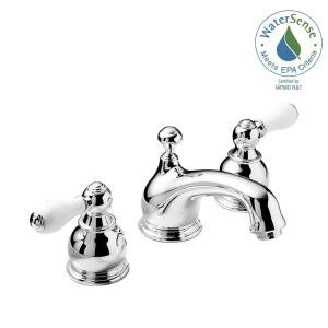 widespread 2handle lowarc bathroom faucet in chrome with
