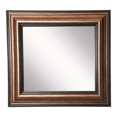 16 in. W x 16 in. H Framed Square Bathroom Vanity Mirror in Bronze
