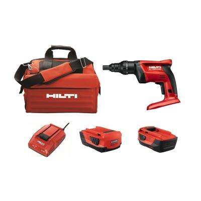 22-Volt ST 1800 Advance Compact Battery Cordless Metal Screwdriver with Adjustable Torque in a Tool Bag