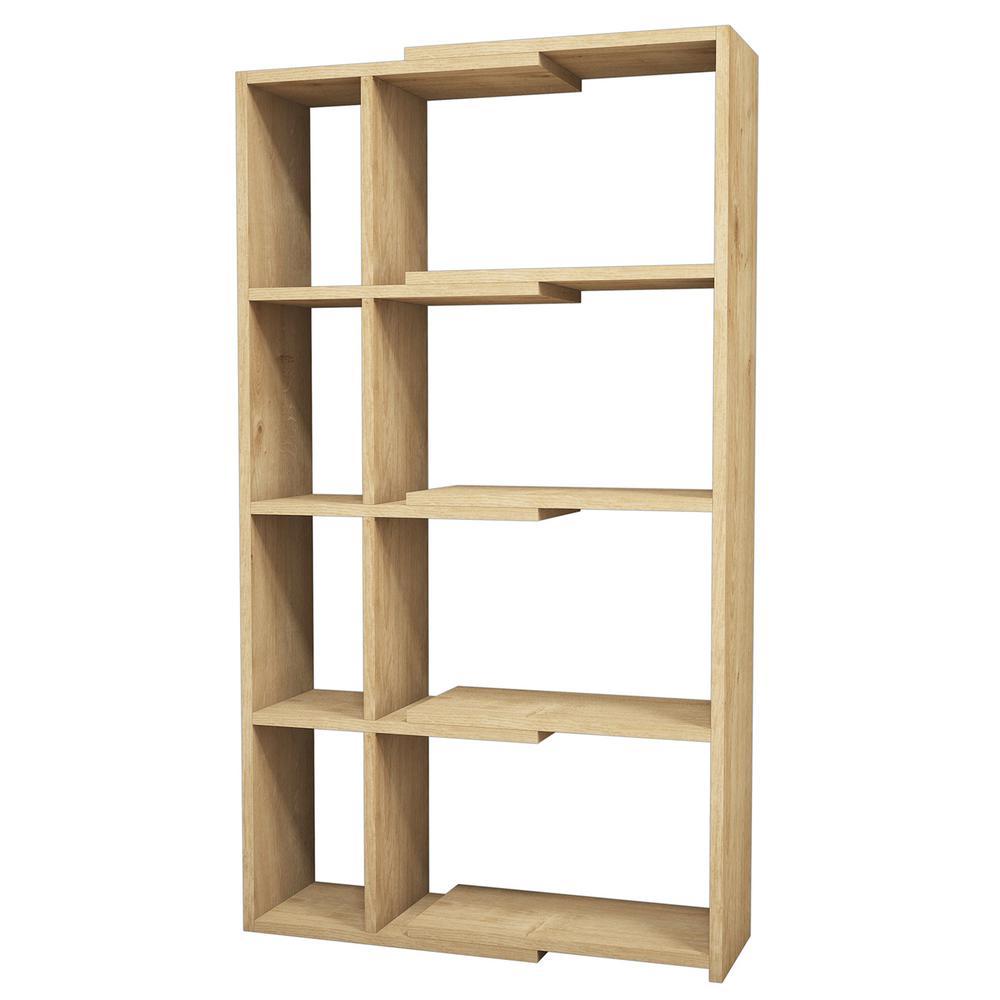 Blaine Oak Modern Bookcase