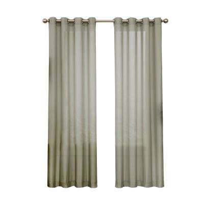 Liberty Light Filtering Sheer Window Panel in Sage - 52 in. W x 108 in. L