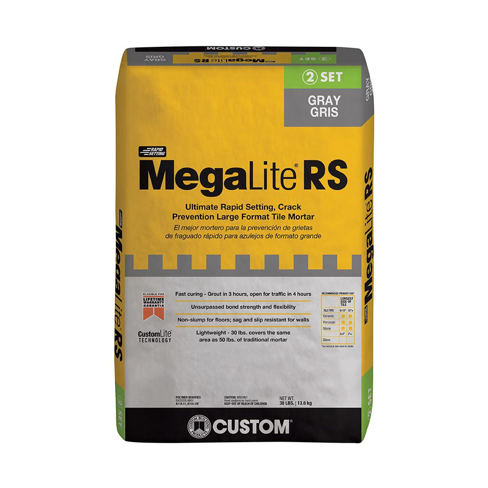 Custom Building Products MegaLite 30 lb. Gray Rapid Setting Crack Prevention Mortar