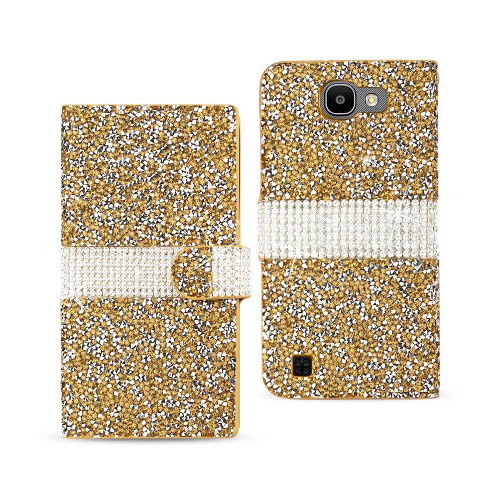 LG Spree Folio Case in Gold