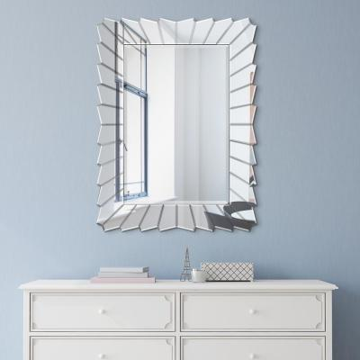 Medium Rectangle Clear Beveled Glass Modern Mirror (40 in. H x 30 in. W)