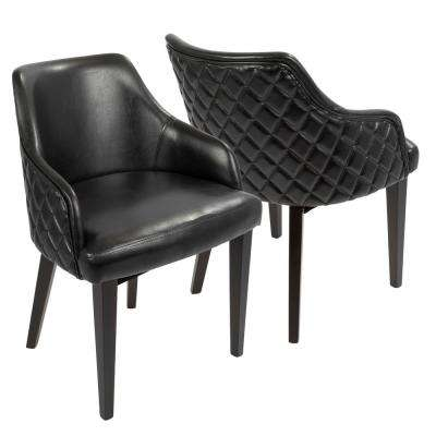 Esteban Black Faux Leather Dining Chair (Set of 2)