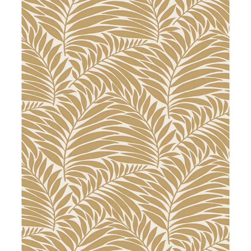 8 in. x 10 in. Myfair Wheat Leaf Wallpaper Sample