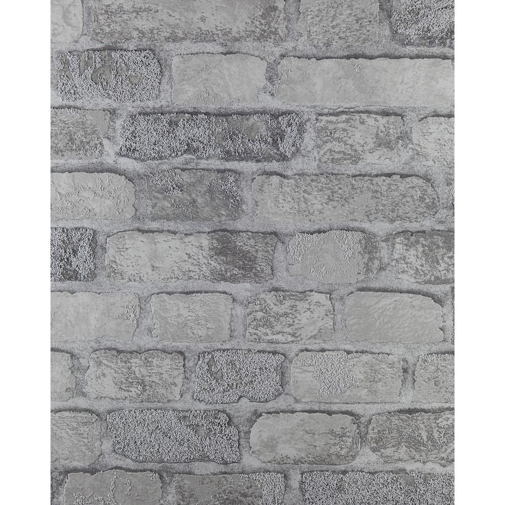 Princess Street Grey Brick Wallpaper