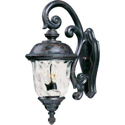 Carriage House Vivex 3-Light Oriental Bronze Outdoor Wall Lantern Sconce