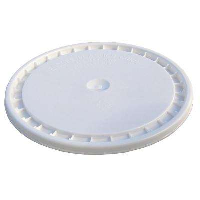 White Reusable Easy Off Lid for 5-Gal. Pail