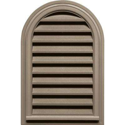 22 in. x 32 in. Round Top Gable Vent in Clay