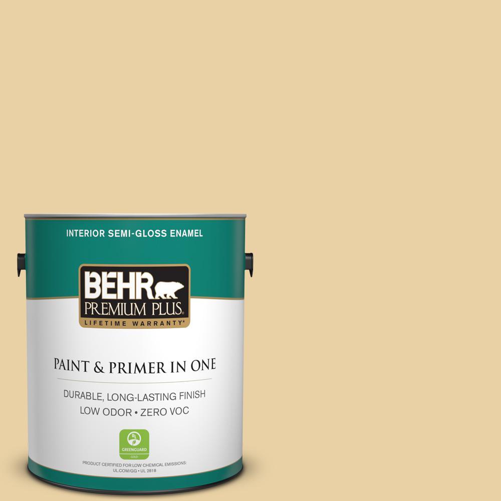 1-gal. #M300-3 Harmonious Gold Semi-Gloss Enamel Interior Paint