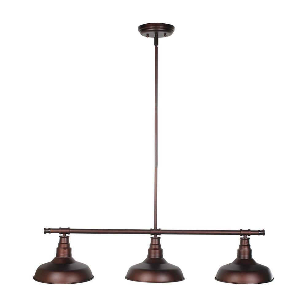 Kimball 3-Light Textured Coffee Bronze Indoor Pendant