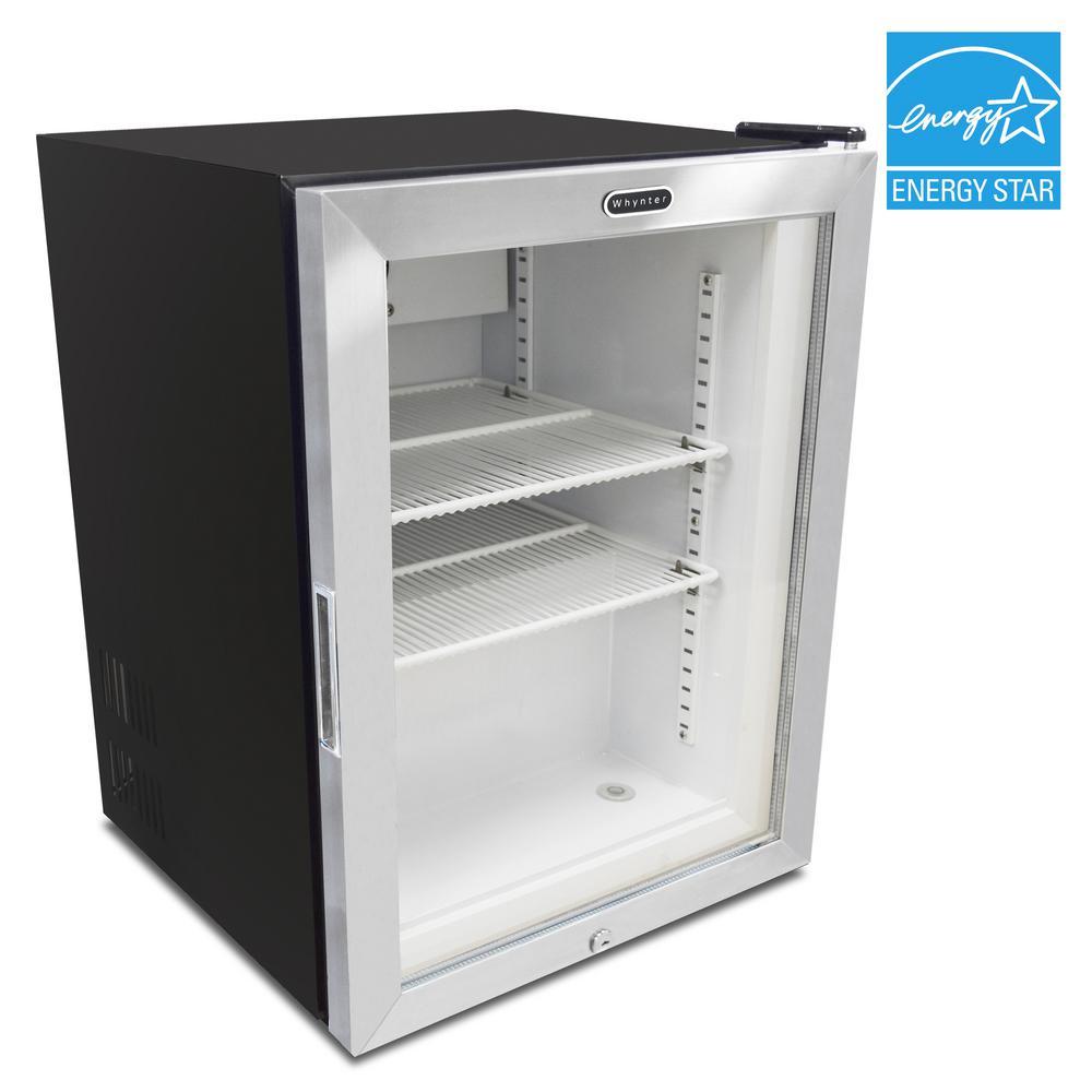 Whynter Countertop Reach In 1 8 Cu Ft Display Gl Door