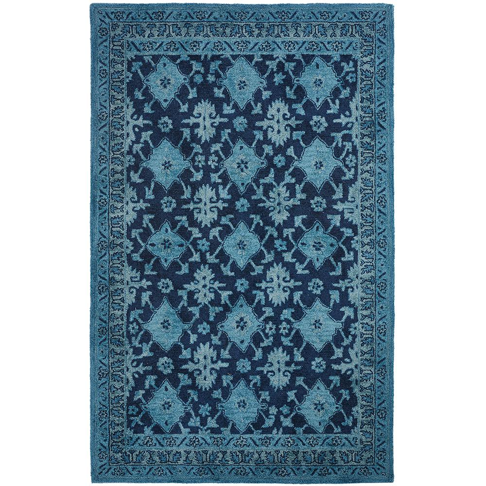 Wylie Blue 8 ft. x 10 ft. Round Area Rug