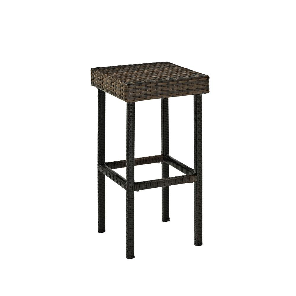 Crosley Wicker Outdoor Bar Stool Palm Harbor 2 Pack Co7108 Br