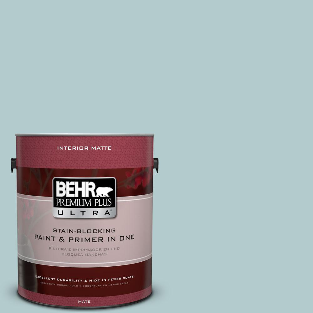 1 gal. #PPU13-15 Clear Pond Matte Interior Paint and Primer in