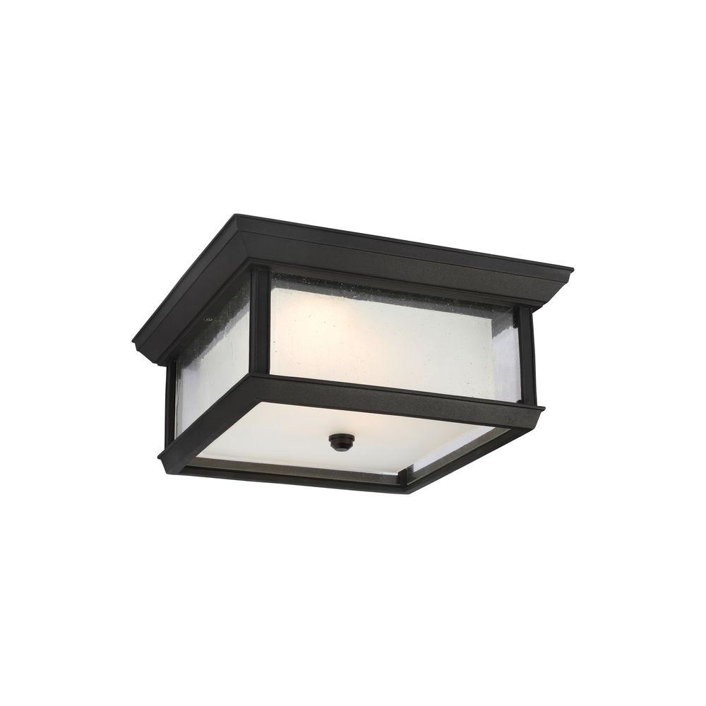 Feiss mchenry textured black outdoor led wall fixture for Outdoor led fixtures