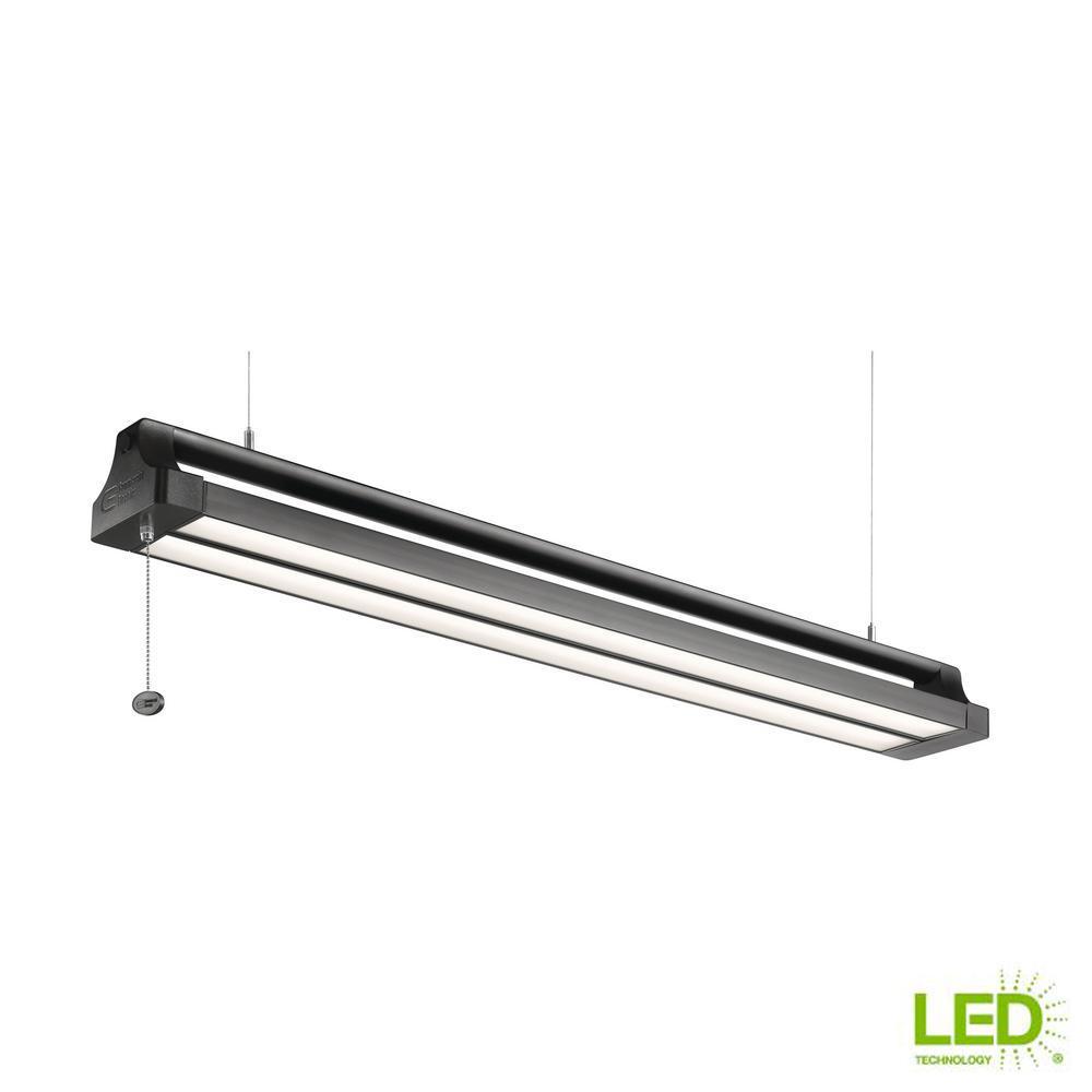 42 in. 42-Watt Black Directional Integrated LED Shop Light