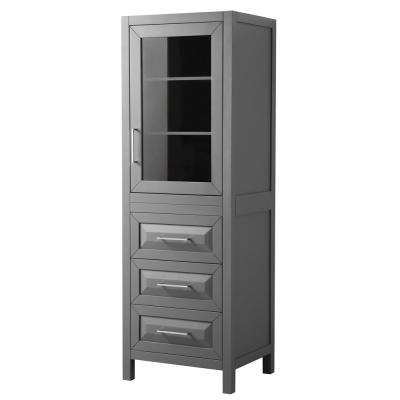 Daria 24 in. W x 71-1/4 in. H x 20 in. D Bathroom Linen Storage Tower Cabinet in Dark Gray