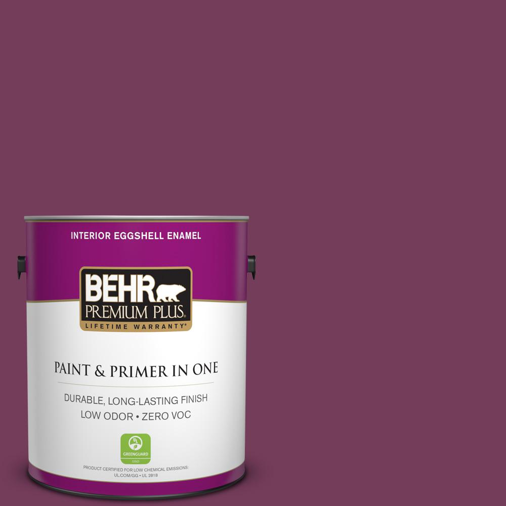 1-gal. #S120-7 Fine Wine Eggshell Enamel Interior Paint