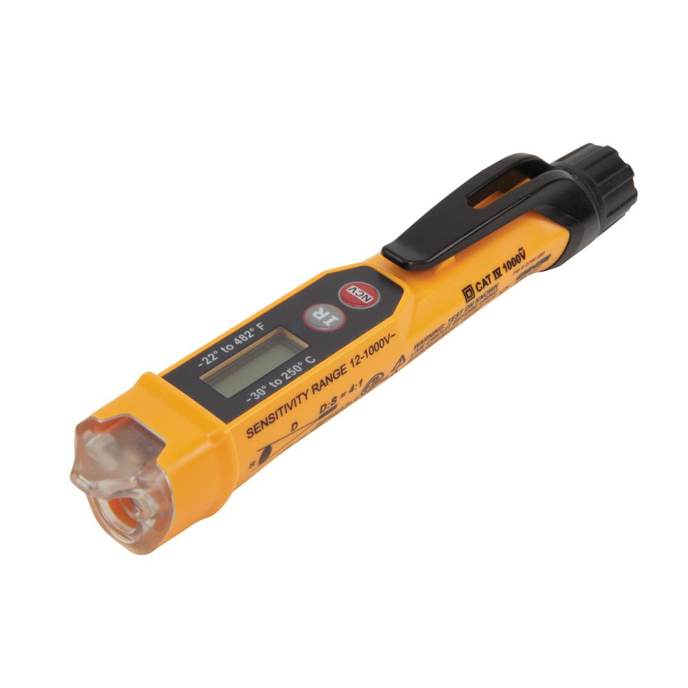 Voltage Tester Electrical Testers Tools The Home Depot Components Of A Sound Level Meter Schematic Non Contact With Infrared Thermometer